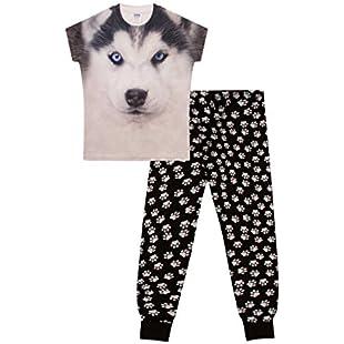 ThePyjamaFactory Husky 3D Long Pyjamas Paw Print (11-12 Years):Maskedking