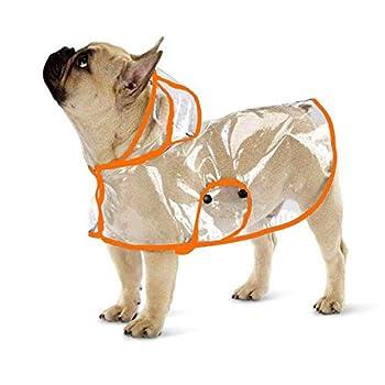 Ducomi Dogalize Manteau imperméable pour chien avec capuche en nylon transparent - Pour chiens de petite et moyenne taille