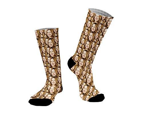 ''Gesicht auf Socken'' - Neuheit - Komplett bedruckte Socken - aussergewöhnliches Geschenk - lustig - scherz - Geschenkidee zum Geburtstag - Vatertag - Muttertag - Weihnachten (Socken mit Mensch)