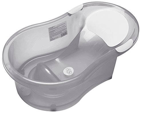 dBb Remond, Vasca per il bagnetto con sdraietta integrata, 0-6 mesi, Grigio (Grise translucide)