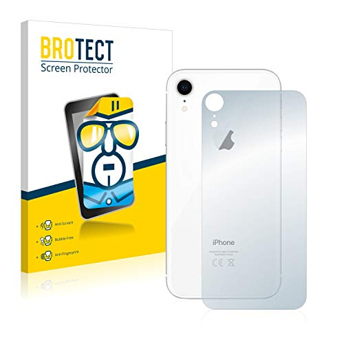 brotect Pellicola Protettiva Compatibile con Apple iPhone XR (Posteriore) Pellicola Trasparente (2 Pezzi) Anti-Impronte