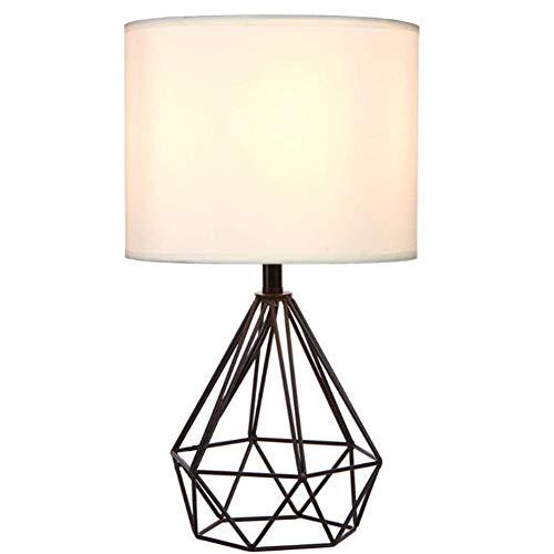 Vintage Tischlampe, 25Cm DIY Tischleuchte Modern Körbchenstil Stil Kreativer Für Schlafzimmer Nachttischlampe Arbeitszimmer Office,Schwarz