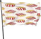 Oaqueen Flagge/Fahne Delicious Popcorn Fahnen Flaggen Durable Fade Resistant Decorative Flags Premium Flag with Grommets Polyester Deluxe Outdoor Banner for All Seasons & Holidays- 3X5 Ft