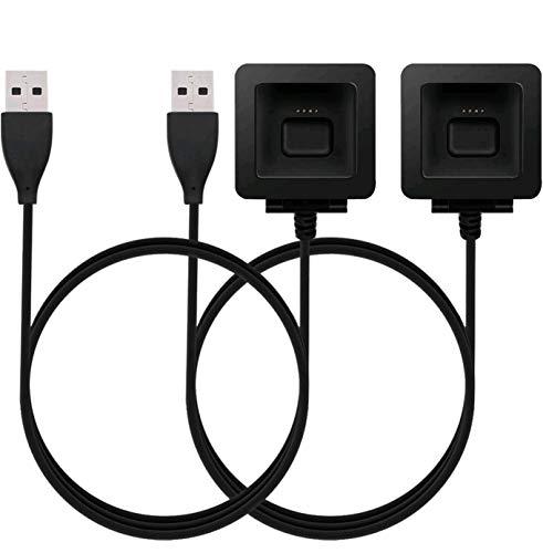 KingAcc Kompatibel Fitbit Blaze Ladekabel, Ersatz USB Ladegerät Ladestation, Laden Kabel Charger, Charging Dock Adapter für Fitbit Blaze(3,3 Fuß / 1 Meter, 2-Pack)