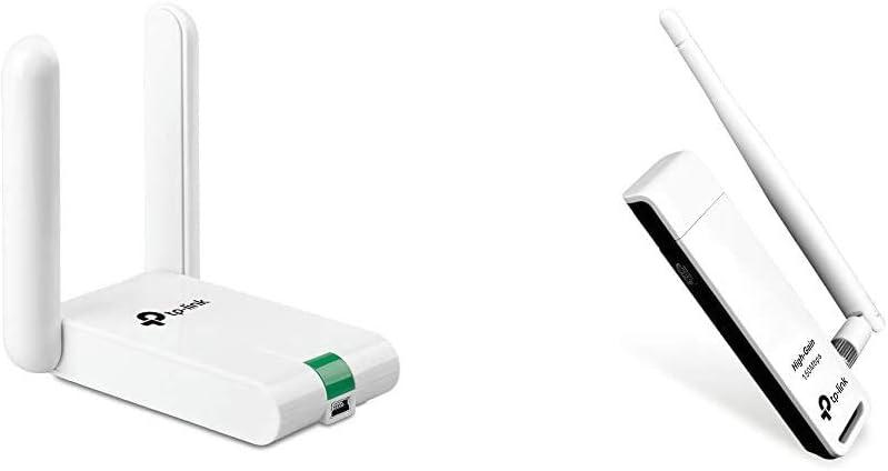 TP-Link Adaptador WiFi USB inalámbrico Compatible con Raspberry Pi, N 300Mbps + Adaptador WiFi USB inalámbrico Compatible con Raspberry Pi, N 150Mbps, ...