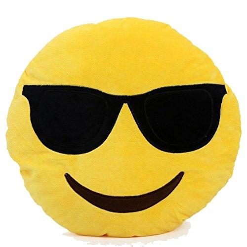 smile peluche Ducomi Cuscini Emoji Emoticon Smiley e Poo - Morbido Cuscino 30 cm