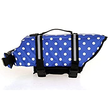 La Vie de Chien Veste Gilet de sécurité Pet supplémentaire Bleu Couleur Dot (Size : XXL)