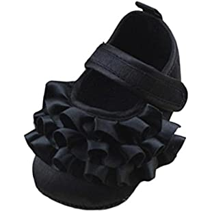 Customer reviews Baby Girl Shoes for 0-18 Months Kids, ❤️ Xinantime Toddler Girls Soft Sole Anti-Slip Shoes (0~6 Month, Black):Qukualian