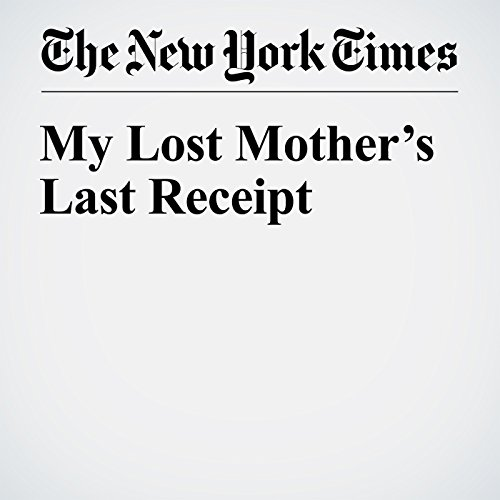 My Lost Mother's Last Receipt audiobook cover art