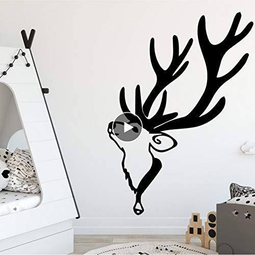 Muursticker Cartoon Bier Giraffe Muurstickers voor Kids Home Decor Woonkamer Vinyl Waterdichte Muursticker Verwijderbare PVC Decoratie 30Cmx41Cm