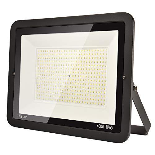 400W LED Strahler Außen Superhell LED Fluter 6000K LED Scheiwerfer IP65 Wasserdicht LED Flutlicht Außenstrahler Außenleuchte für Werkstatt Garage Garten (Kühles Weiß, 400W)