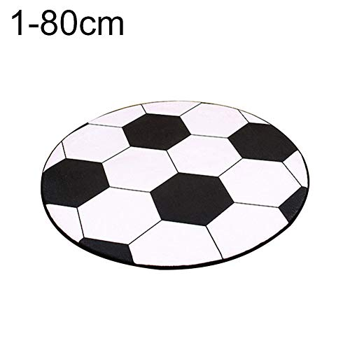 Gnc33Ouhen Soft Mat Carpet Rug Round Football Basketball Pattern Pad Computer Chair Home Decor for Boys Bedrooms Playroom Kid's Room Nursery Decor 2019 Best Shower Gift 1# 60cm
