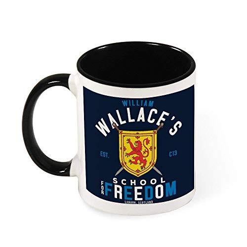 IUBBKI Braveheart William Wallace School for Freedom Taza de café de cerámica para té, regalo para mujeres, niñas, esposa, mamá, abuela, 11 oz