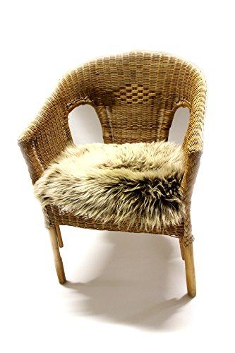 particulièrement Belle Coussin en fourrure d'agneau véritable avec les dimensions de base de 40 x 40 cm – Confortable Coussin déco de canapé et fauteuil chaise.