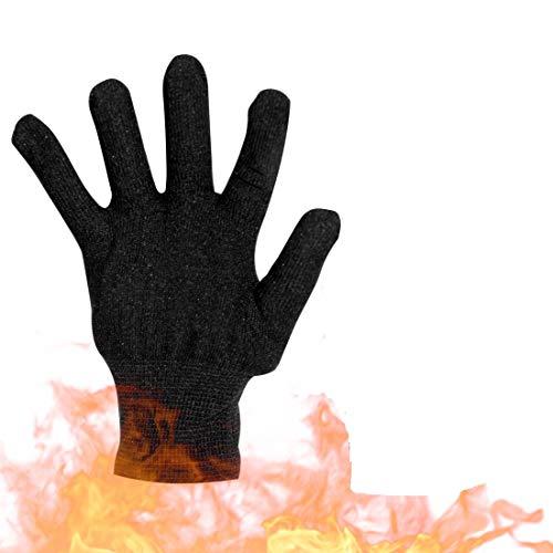 Hitzebeständige Handschuhe Lockiges Haar/Glattes Haar Verbrühungsschutz für Lockenstab, Glätteisen und Lockenstab Geeignet, Einzelhandschuh, Schwarz