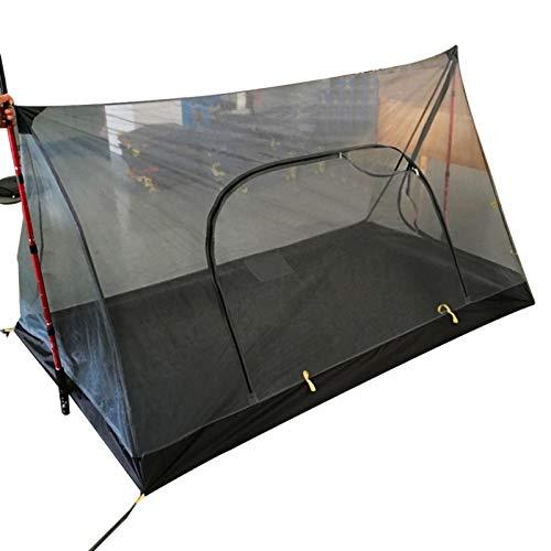 Tienda de campaña, 1/2 persona Tienda de campaña con sombrilla multifuncional impermeable, en forma de A Tienda de campaña Mosquitera Tienda de red de hilo total Ultraligero Equipo cuantitativo