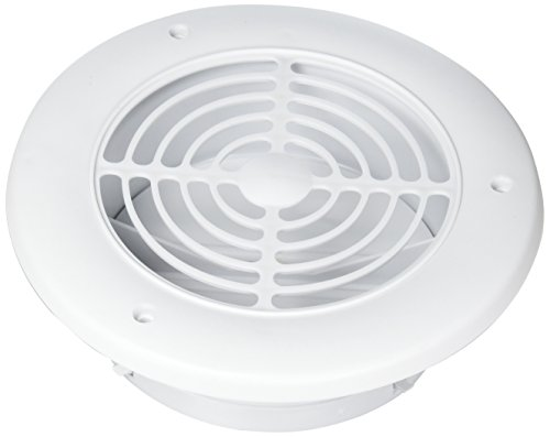 Imperial 4 in. W x 4 in. L White Plastic Exhaust Vent - Case Of: 1