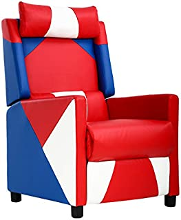 Recliner Chair Gaming Chairs for Adults Gaming Recliner Couch Gamer Chair Video Game Chairs Reclining Home Movie Theater Sofa Single Living Room Furniture Seat Comfortable