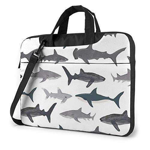 Sharks Nautical Unisex Laptop Bag Messenger Shoulder Bag for Computer Briefcase Carrying Sleeve