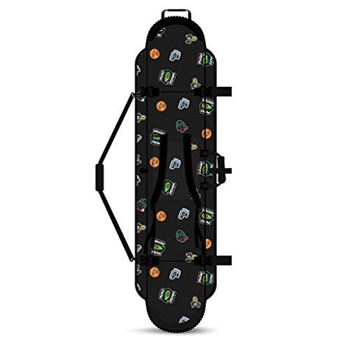 Snowboarding Tabla De Snowboard Tabla Integral De Snowboard Tabla De Snowboard para Principiantes Unisex con Bolsa De Almacenamiento (Color : Black, Size : 160cm)
