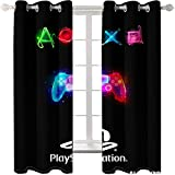 zpangg Blackout Curtains Play Station Blackout For Children Bedroom Eyelet Thermal Insulated Room Darkening Curtains For Nursery Living Room Bedroom 184×214Cm