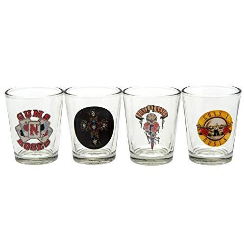 Guns N' Roses - Pack oficial de 4 vasos de chupito (Talla Única) (Tra