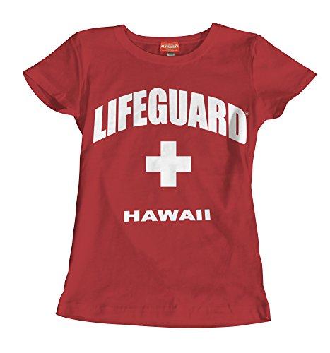 Maui Clothing Damen T-Shirt Lifeguard Hawaii - - Mittel
