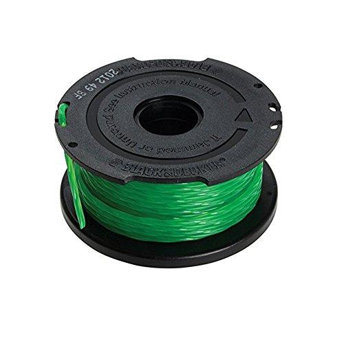 BLACK+DECKER Bobine de Rechange pour Coupe-Bordures, Bobine Reflex Plus, 6 m de Fil en Nylon Vert et Résistant, Fil de ⌀2 mm, A6482-XJ