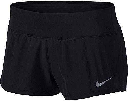 Nike Crew Running Shorts Pantalones Cortos, Mujer, Negro (Black), XL