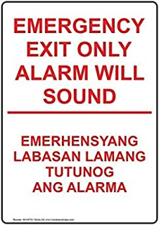 Ohuu Exit Emergency/Fire Sign,Iron,Metal Warning Signs,Private Sign,Notice Sign,8