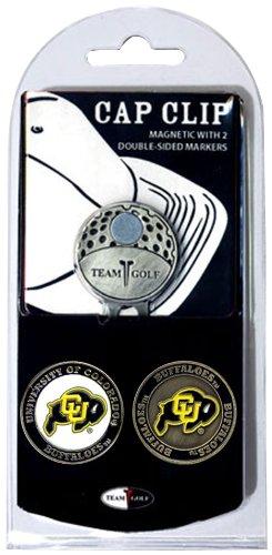 Team Golf NCAA Colorado Buffaloes Golf Cap Clip mit 2 abnehmbaren doppelseitigen Emaille-Magnetballmarkern, lässt Sich leicht an Hüten befestigen