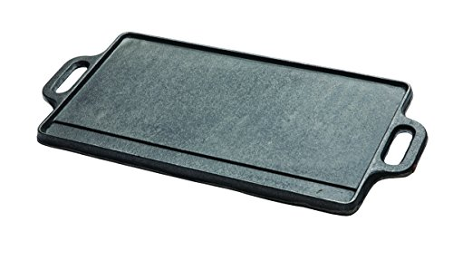 Texsport Cast Iron 2 Sided Reversible Griddle 9.5 x 20 Inch