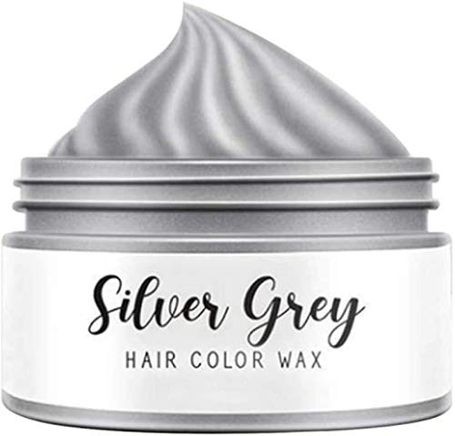 HAVAJ Silver Blonde Coloring Hair Wax,Fashion Silver Grey Grandma Gray Hair,Temporary Hair Dye Natural Hairstyle Pomade Cream Unisex Wax for Men and Women