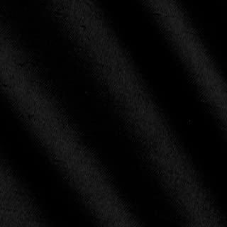 Ben Textiles Shantung Sateen Black Fabric By The Yard