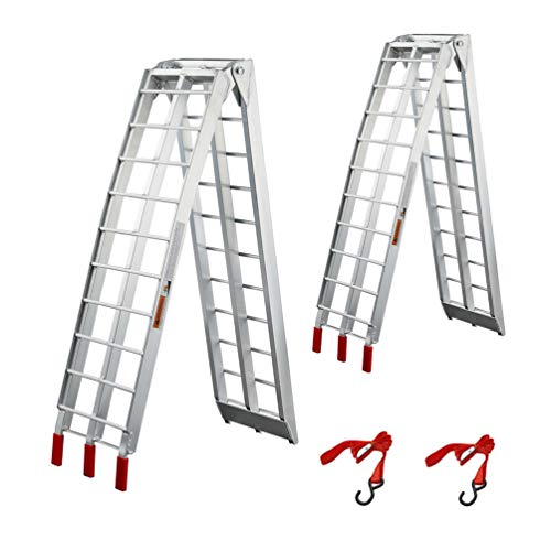 Loading Ramps Trucks, gardhom 7.5' 2 PC 1500 lbs Capacity Aluminum Folding Ramps For Pickups Trailers ATV Lawnmowers