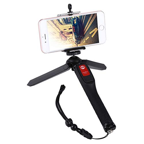 Mode Gemak duurzaam Letspro LY-11 3 in 1 Handheld Statief Zelfportret Monopod Uitschuifbare Selfie Stick met Afstandsbediening Shutter voor Smartphones, Digitale Camera's, GoPro Sport Camera's Pretty