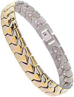 Bracciale da uomo in acciaio inox placcato oro da 12 mm placcato in oro