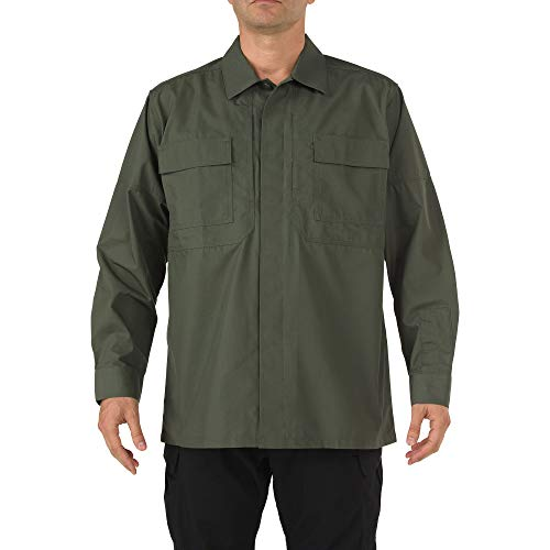 5.11 Tactical Ripstop TDU Long-Sleeve Shirt,TDU Green,Medium