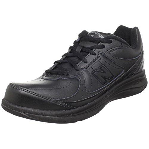 New Balance Women's 577 V1 Lace-Up Walking Shoe, Black/Black, 5 XW US