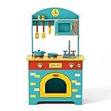 Robotime Ensembles de Cuisine Meubles et Accessoires Jeux de Simulation pour Tout-Petits Kits de Cuisine Jouets Cadeau pour Enfants 3 4 5 6 Ans Garçons et Filles