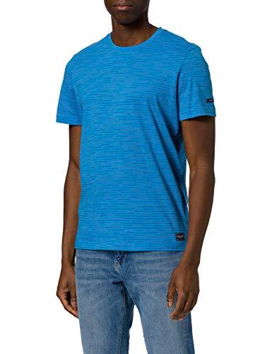Tom Tailor 1023906 Stripe Camiseta, Bright Ibiza Blue Melangé 26337-Juego de Mesa,...