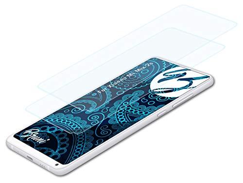 Bruni Schutzfolie kompatibel mit Xiaomi Mi Mix 2s Folie, glasklare Bildschirmschutzfolie (2X)