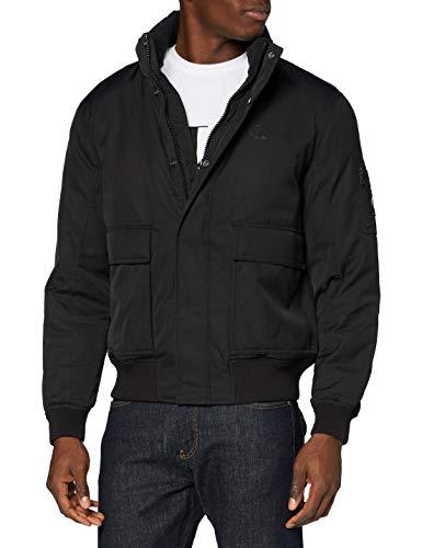 Calvin Klein Fake Down Bomber Chaqueta, CK Black, L para Hombre