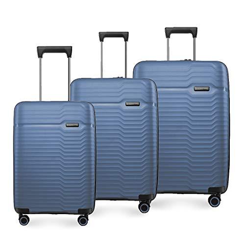 Nasher Miles Sahara Hard-Sided Polypropylene Luggage Set of 3 Navy Blue Trolley Bags (55, 65 & 75 cm)
