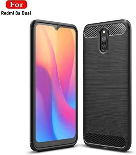 JGD PRODUCTS Redmi 8A Dual Carbon Fiber Armor Drop Tested Shock Proof TPU Back Case Cover For Redmi 8A Dual Launch Offer