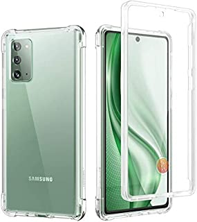 Case Clear Case for Galaxy Note 20 5G,[Built in Screen Protector]Full Body Protection Hard Shell+Soft TPU Bumper Shockproo...
