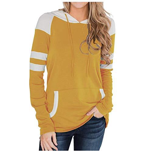 TOPKUAL Damen Herbst Winter Oversize Hoodie Langarmshirt Kapuzenpullover Sweatshirt...