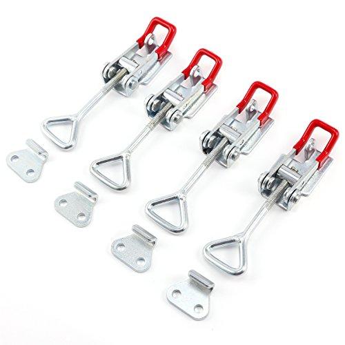 4 Stück Hebel Verschluss Spannverschluss Kistenverschluss Kappenschloss Klammer Büro Laden Hause (4 Stück M)