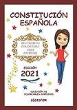 Constitución Española en formato coloreable para estudiar: Colección de Coloreables Jurídicos