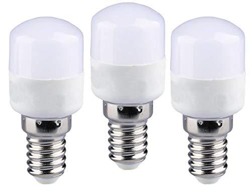 LEDLUX 3 lámparas LED E14 tubulares T26 2 W 180 lúmenes 220 V para campana extractora de cocina frigorífico microondas